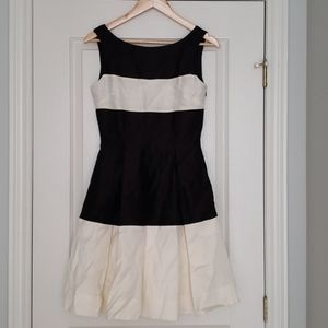 10/10 NWT Kate Spade black and ivory dress.